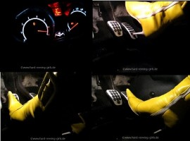 Revving in yellow pointy leahter boots full heat up