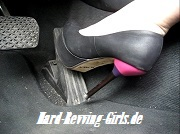 Lin revving in black heels after party - Hard-Revving-Girls Shop